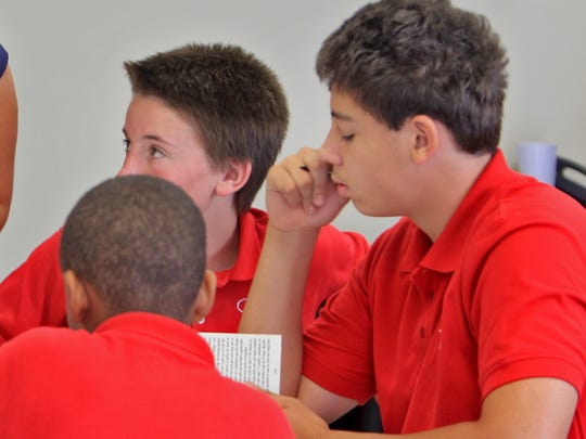 Students are shown at Carpe Diem charter school in 2013.