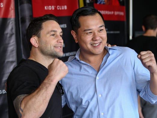 Former UFC Lightweight Champion Frankie Edgar poses