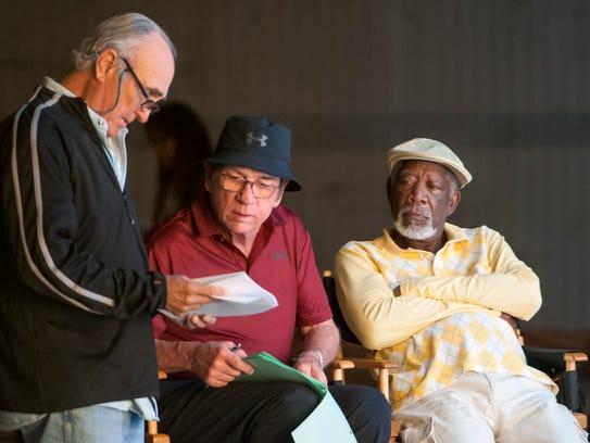 (l-r.) Director Ron Shelton,  Actor Tommy Lee Jones