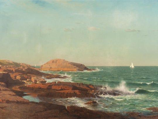 Indian Rock, Narragansett Sound, Rhode Island
