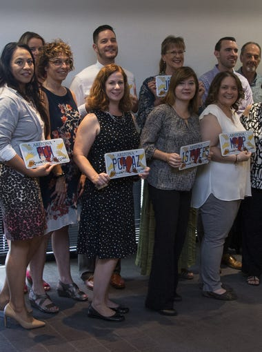 The Arizona Child Abuse Prevention License Plate Donation Grant Awards Celebration was held Aug. 17, 2017, in the Pulliam Room at The Arizona Republic offices in downtown Phoenix.