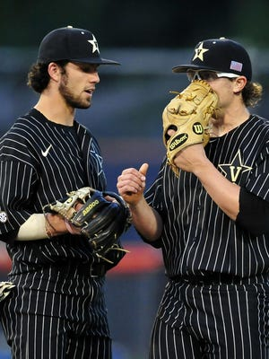 The Vanderbilt uniform numbers of Dansby Swanson and Carson Fulmer will not be worn by other players, according to coach Tim Corbin.