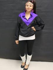 Jasmine Hayslett's dressed up for spirit week on Decades Day at Fort Defiance High School.