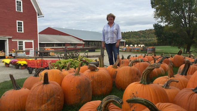 Deb Conant of Conant's Riverside Farm in Richmond said she's had a banner year for pumpkins despite dry weather.