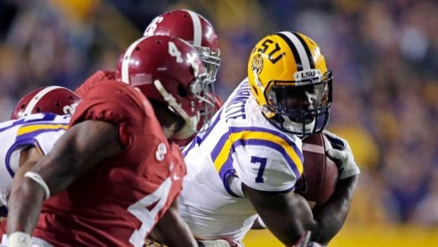 Leonard Fournette will look to play a bigger role in Saturday's Alabama-LSU game than he did last season.