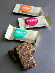Some of the health and energy bars made by Jonesbar in Sea Girt.