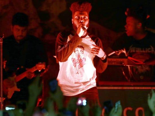 Pop sensation Khalid performed at Tricky Falls in 2017.
