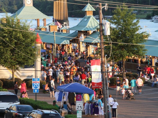 The Downtown RiverMarket hosts the Louisiana Food and