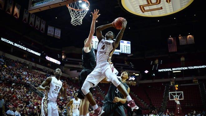 Dwayne Bacon scored 23 points in FSU's 84-74 NIT win over Davidson.