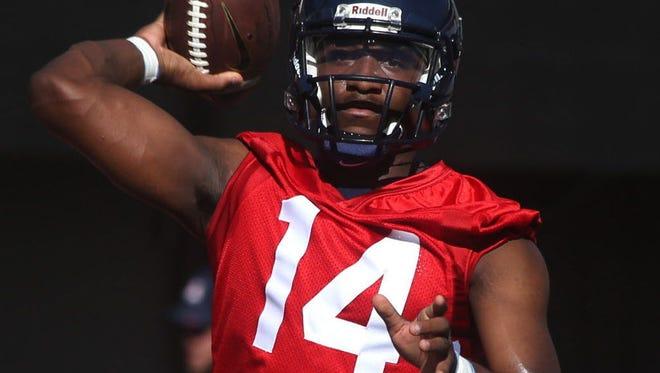 Arizona Wildcats quarterback Khalil Tate