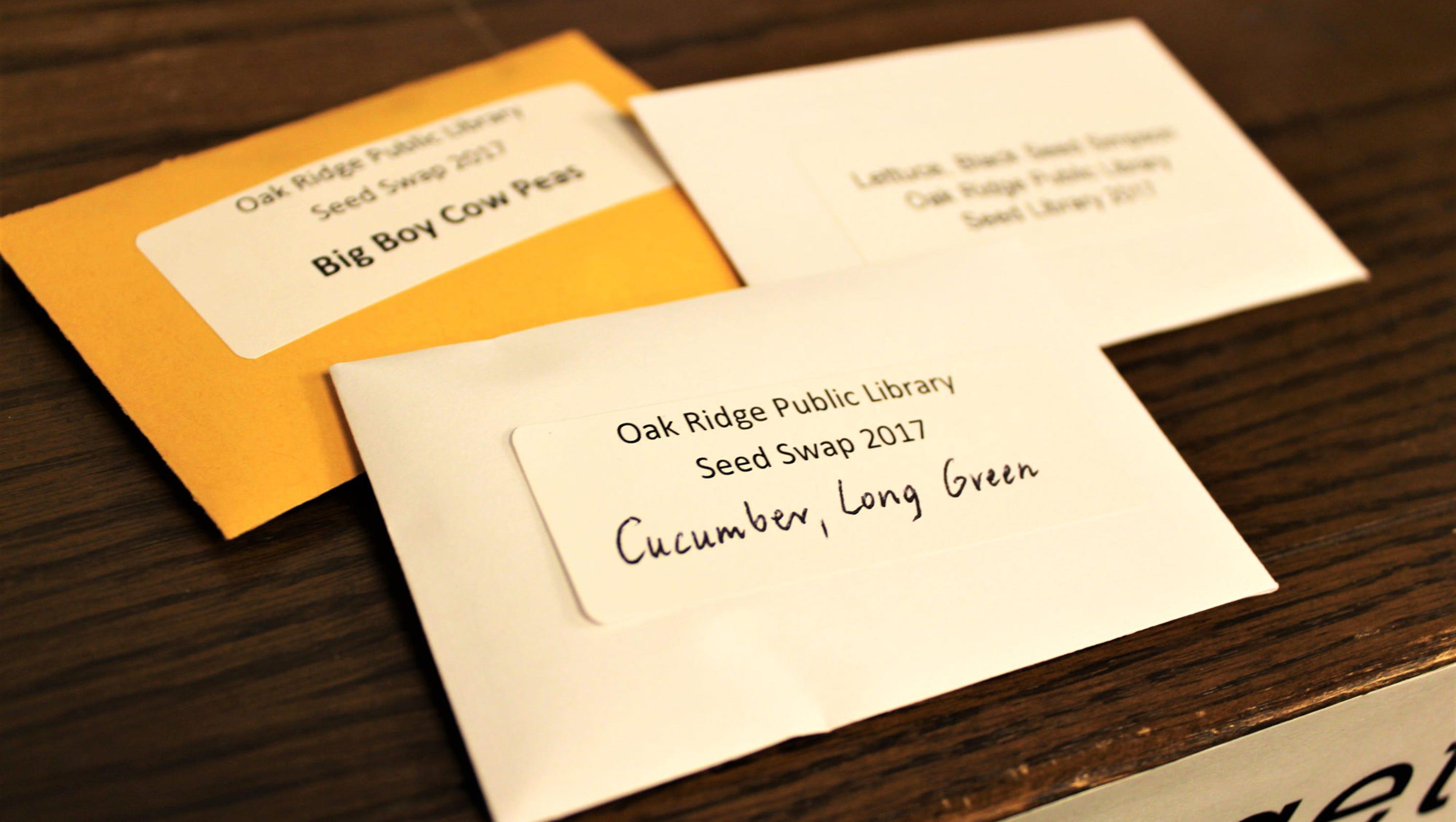 Oak Ridge Public Library launches seed exchange