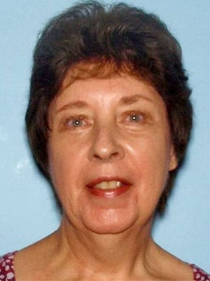 This photo provided Monday by the Cobb County Police Department, shows June Runion, of Marietta, Ga., who with her husband Elrey Bud Runion, 69, were reported missing after driving across the state to check out a classic car advertised on Craigslist. Police discovered two bodies Monday, and investigators arrested 28-year-old Ronnie Adrian 'Jay' Towns of McRae on charges of giving false statements to authorities and criminal attempt to commit theft by deception.