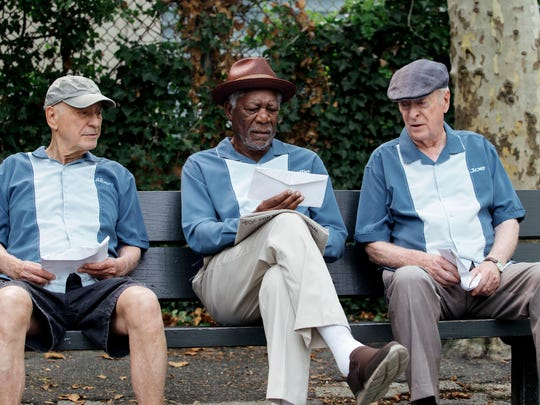 Alan Arkin, Morgan Freeman and Michael Caine appear