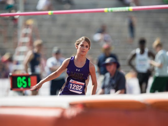After finishing second in 2017, Early's Trinity Tomlinson won the Class 3A girls high jump at the state track and field meet Friday, clearing 5-7.
