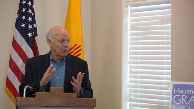Congressman Steve Pearce,  speak at Haciendas at Grace Village about the impact of tax reform on small businesses, Monday Feb. 19, 2018.