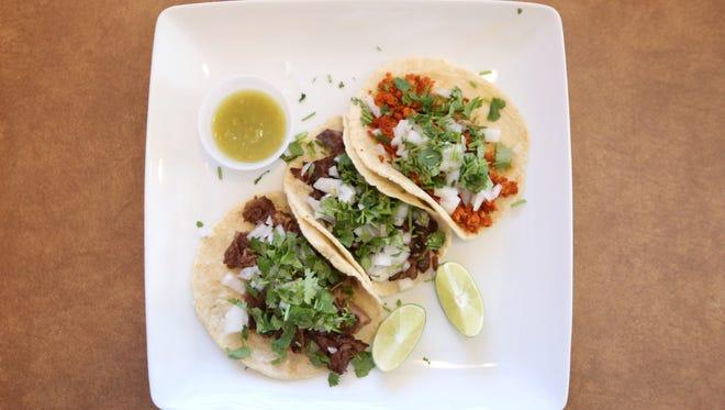 Tacos de Res, Tacos de Chorizo and Tacos de Pastor are served at Romana's Mexican Restaurant in northeast Salem. The tacos are $2 each.