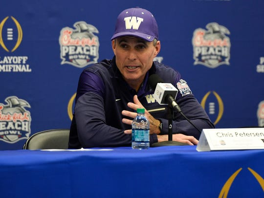 UW coach Chris Petersen guided the Huskies to the national semifinals in just his third year leading the program.