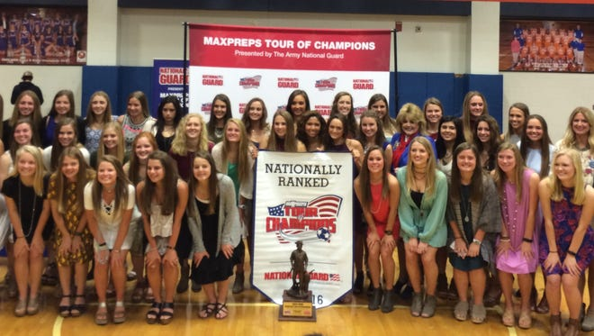 Madison Central's girls soccer team was honored by MaxPreps on its Tour of Champions after winning the Class 6A championship, finishing 22-0-1 and as the top ranked team in the country.