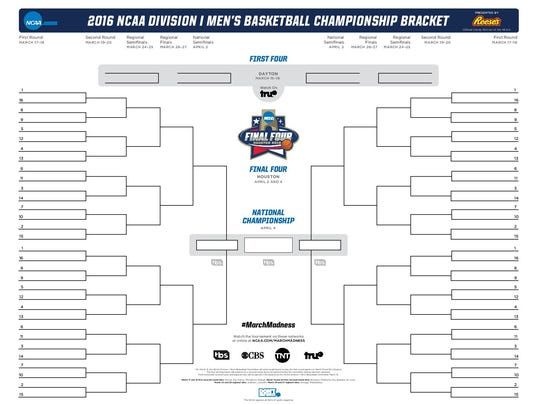 Get ready: Your blank 68-team NCAA tournament bracket