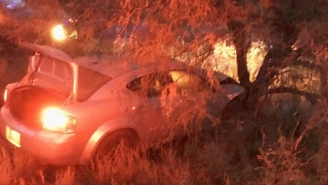 Two teenagers were caught attempting to smuggle people in the U.S., Border Patrol sais. They were arrested after crashing their car.