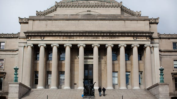 Columbia University Library in New York. (AP Photo/John Minchillo)
