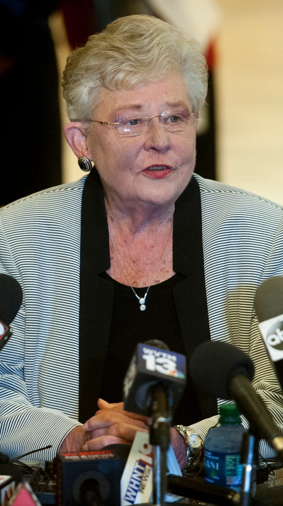 Governor Kay Ivey holds a press conference at the Alabama