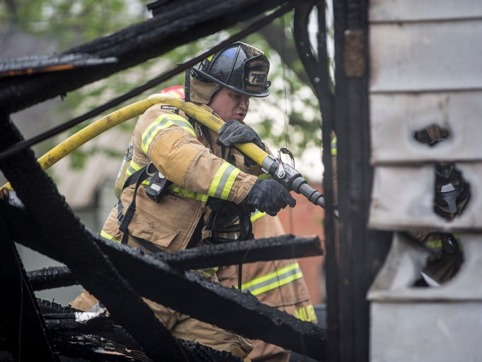 Eaton firefighters respond to a fully involved fire