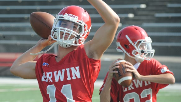 Erwin alum Garrett Brown will be one of several former athletes enshrined in the school's athletic hall of fame on Dec. 5.