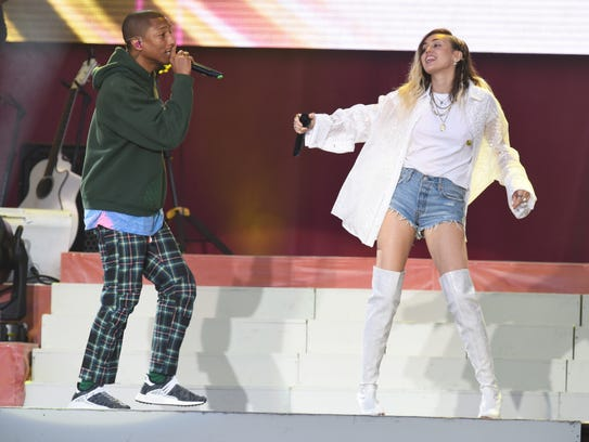 Pharrell Williams and Miley Cyrus