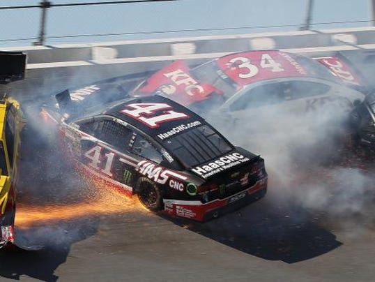 APTOPIX NASCAR Aarons 499 Auto Racing