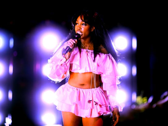 Soul singer SZA performs at the Coachella Valley Music