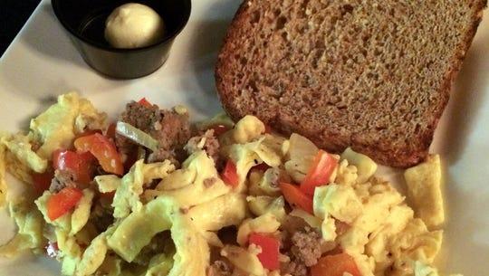 The eggs scrambled at Movara Fitness Resort consists