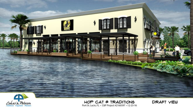 This artists rendering shows plans for HopCat restaurant in Tradition in Port St. Lucie.