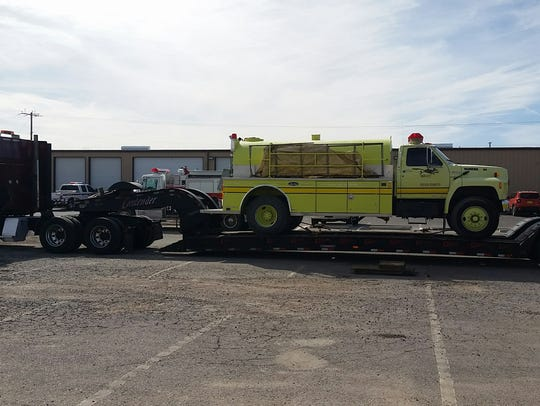 Doña Ana County donates fire equipment to Houston following