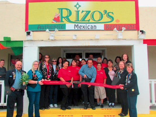 Rizo's Mexican Foods opened on Monday: Front row from right to left: Joanne Westphal, Regina Colbert, Anna Rizo (owner), Maria Rizo, Alfredo Rizo (owner), Carrie Hartwig, Emily Otero,  Hope Patterson, Cindy Boylan, Michelle Brideaux, Javier Lerma      Thanks, Jose,      Jessica Hoidahl