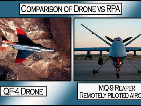 Holloman Air Force Base is home to the QF-4 Drone, and the MQ-1 Predator and MQ-9 Reaper remotely piloted aircraft. Drones, which can be flown manned or unmanned, are used as aerial targets for next-generation aircraft weapon's testing. The MQ-1 and MQ-9 are used for training student pilots and sensor operators how to fly real-world combat missions, as well as perform intelligence, surveillance and reconnaissance.