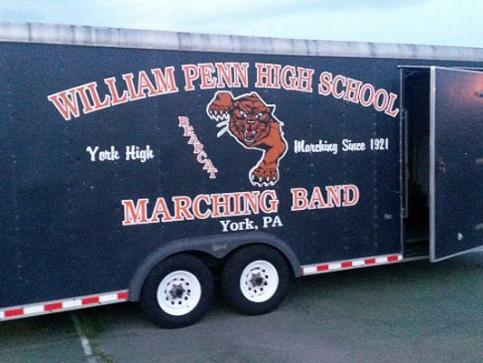 The William Penn High School band trailer needs some work.