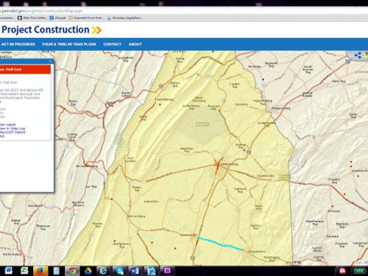A new PennDOT website details highway projects across the state. Submitted