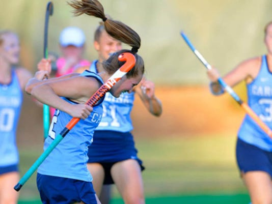 Lauren Moyer and the Tar Heels have done plenty of celebrating this season. The team holds a 12-1 overall record and has outscored the competition 57-17 on the year.