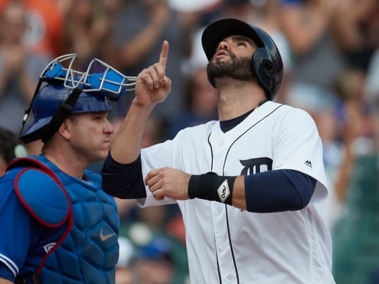 J.D. Martinez has a 1.025 OPS this season and hit a