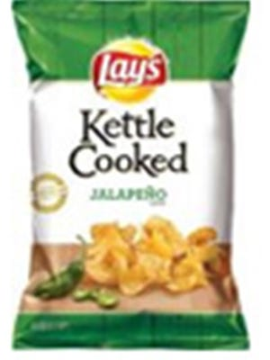 Frito Lay voluntarily recalls Lay's Kettle Cooked Jalapeno potato chips on 4/21/17