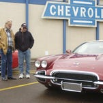 Taylor, left, and Terry Albrecht discuss check out a classic Corvette. More than 100 Corvettes descend on Great Falls this weekend for the 45th annual Big Sky Corvette Meet.