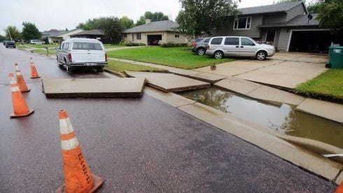 A driveway was washed out on Silver Valley Drive just south of Dunham Park.