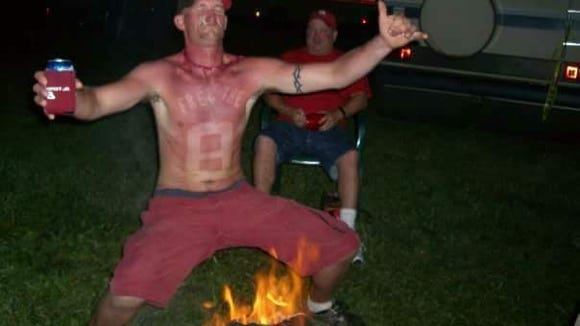 Meet the NASCAR fan who sunburned his favorite drivers on his body