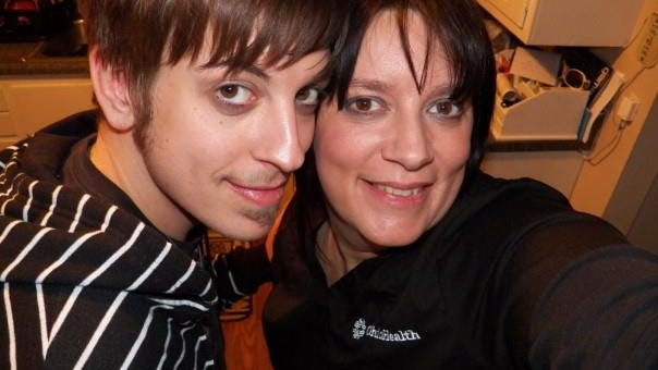 Christopher Michael King, 24, with his mom, Stacey Powell. Christopher died in 2012 of a heroin overdose.
