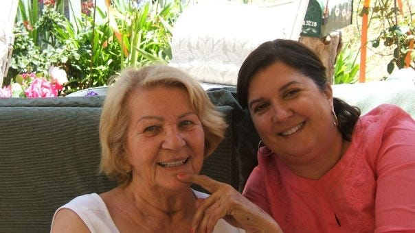 Maxine Douglas and her daughter Janis Garcia in 2009 during a visit to San Diego.