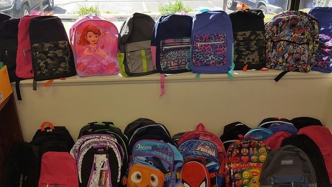 Part of the donated bags.