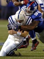Quarterback Peyton Manning, while playing for Indianapolis