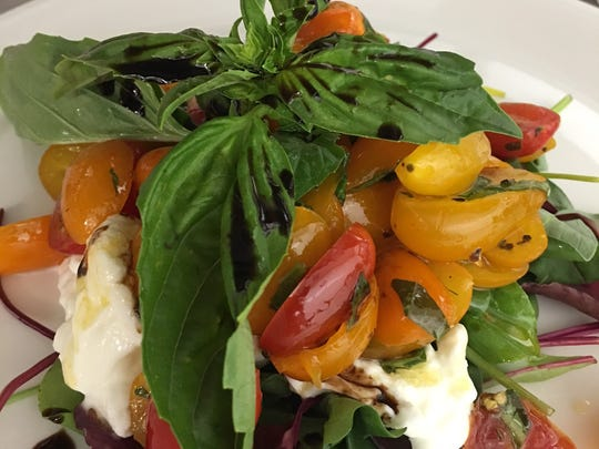 Buffala Mozzarella with Caprese salad at Paradiso at The Grand Theatre.