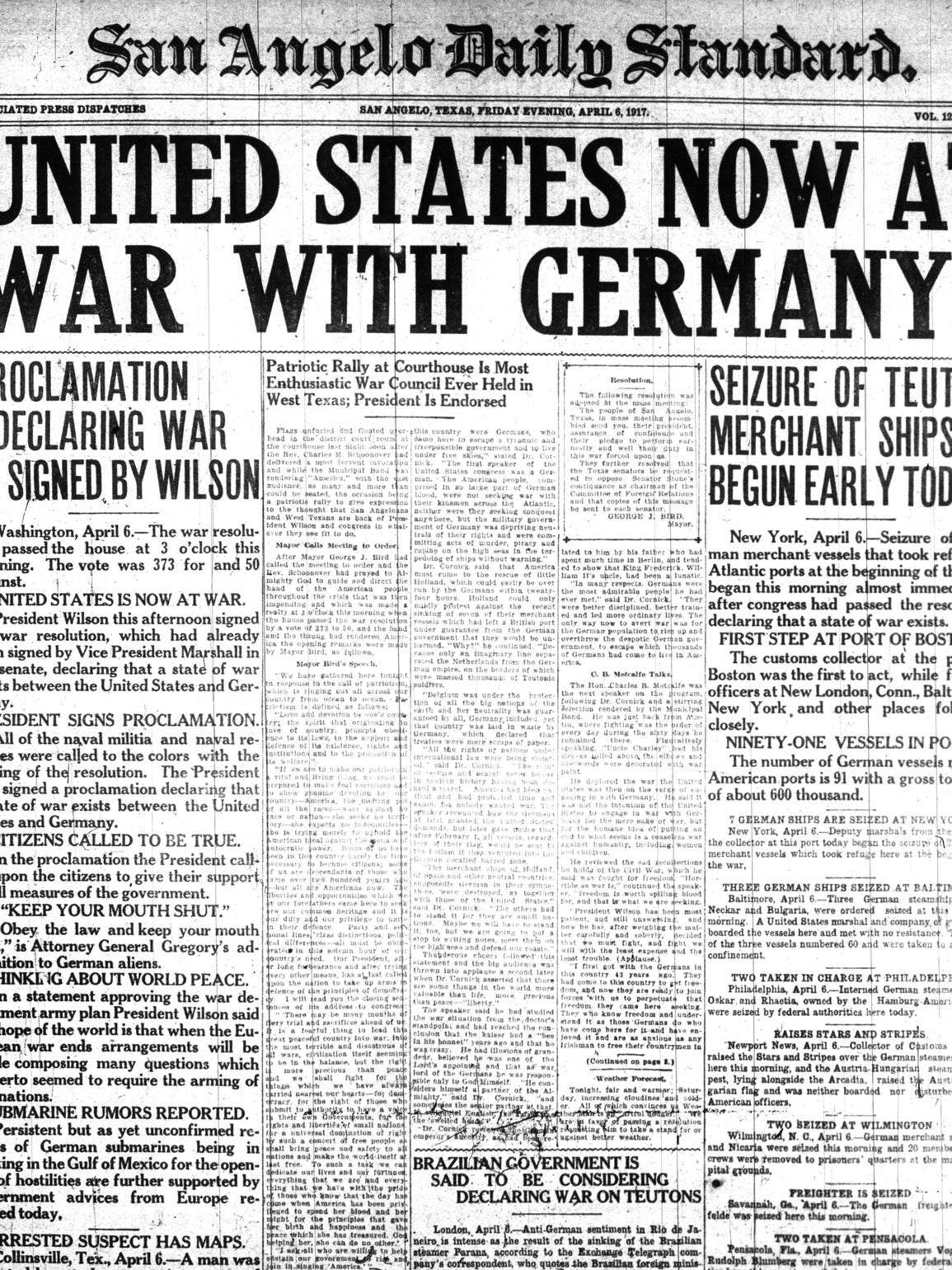 Front page 1917